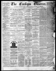 Thumbnail of a page from The Cardigan Observer and General Advertiser for the Counties of Cardigan Carmarthen and Pembroke