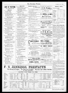 SUNDAY SERVICES AT PRESTATYN  -I|1906-07-07|Prestatyn Weekly - Welsh