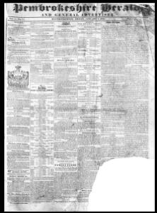 Thumbnail of a page from The Pembrokeshire Herald and General Advertiser