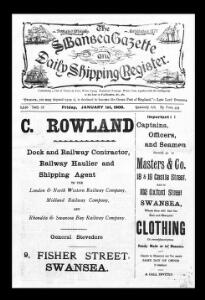 Thumbnail of a page from The Swansea Gazette and Daily Shipping Register