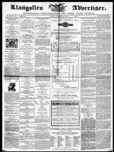 Thumbnail of a page from Llangollen Advertiser Denbighshire Merionethshire and North Wales Journal