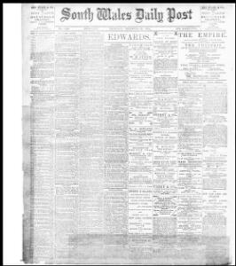 Advertising 1896-12-31 The South Wales Daily Post - Welsh