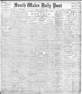 Advertising 1899 03 27 The South Wales Daily Post Welsh