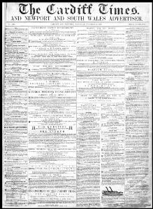 Thumbnail of a page from The Cardiff Times