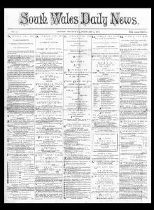 Thumbnail of a page from South Wales Daily News