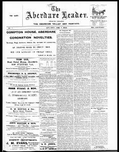 Thumbnail of a page from The Aberdare Leader