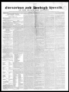 Thumbnail of a page from Carnarvon and Denbigh Herald and North and South Wales Independent