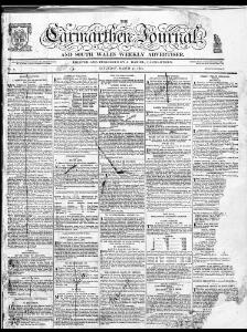 Thumbnail of a page from The Carmarthen Journal and South Wales Weekly Advertiser