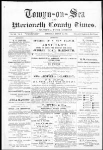 Thumbnail of a page from Towyn-on-Sea and Merioneth County Times
