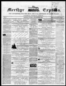 Thumbnail of a page from The Merthyr Express