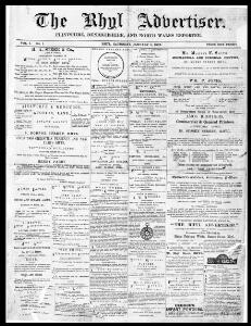 Thumbnail of a page from The Rhyl Advertiser