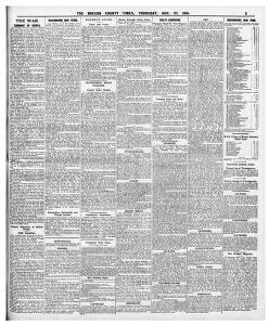 THE WAR |1914-08-27|The Brecon County Times Neath Gazette