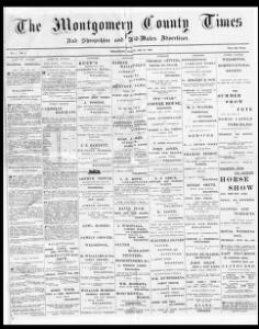 Thumbnail of a page from The Montgomery County Times and Shropshire and Mid-Wales Advertiser