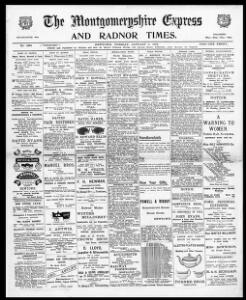 Thumbnail of a page from The Montgomeryshire Express and Radnor Times