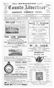 Thumbnail of a page from The Barmouth and County Advertiser and District Weekly News