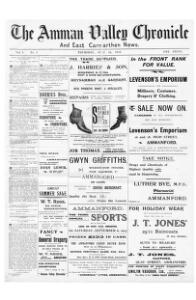 Thumbnail of a page from The Amman Valley Chronicle and East Carmarthen News