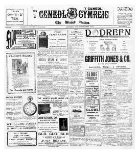 Thumbnail of a page from Y Genedl