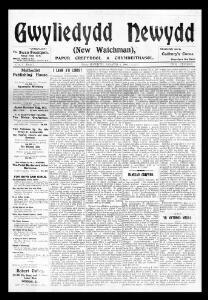 Thumbnail of a page from Gwyliedydd Newydd