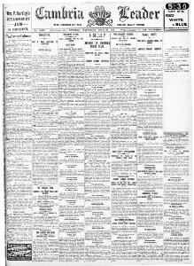 Advertising 1914-04-29 The Cambria Daily Leader - Welsh