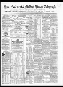 Thumbnail of a page from Haverfordwest and Milford Haven Telegraph and General Weekly Reporter for the Counties of Pembroke Cardigan Carmarthen Glamorgan and the Rest of South Wales