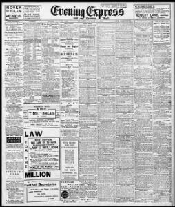 advertising1910 08 02evening express welsh newspapers online