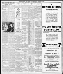 THE PURPLE CURTAIN,|1910-09-28|Evening Express - Welsh