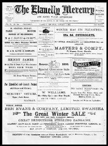 Thumbnail of a page from The Llanelly Mercury and South Wales Advertiser