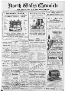 Thumbnail of a page from The North Wales Chronicle and Advertiser for the Principality