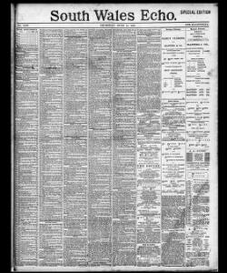 Advertising 1891-06-11 South Wales Echo - Welsh Newspapers