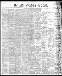 Advertising 1891-08-01 South Wales Echo - Welsh Newspapers Online