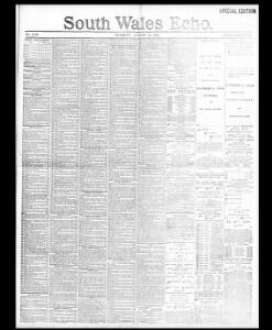 Advertising|1891-08-11|South Wales Echo - Welsh Newspapers Online