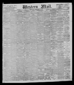 Advertising 1886-09-22 The Western Mail - Welsh Newspapers