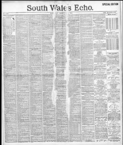 1895 Online Advertising 02 Newspapers Welsh Wales 09 south Echo ED9IH2W